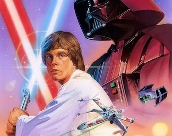 "Star Wars Celebration Japan ""AP"" Print 18"" x 24"" Luke Skywalker, Darth Vader"