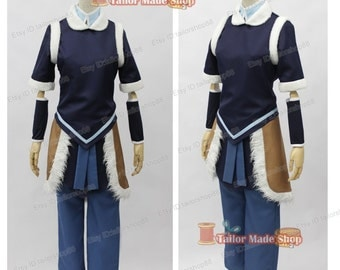 The Legend Of Korra Cosplay Costume Dark blue