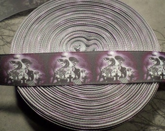 Psychobilly Graveyard Girls Grosgrain Ribbon