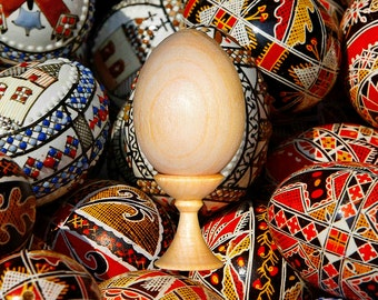 Egg for Art work for a list. With a support. For creativity. For the Decoupage. Natural Birch wood 1