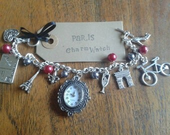 Paris romance inspired Charm Bracelet Watch