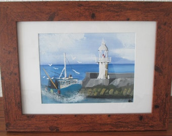 The Brixham Trawler - original watercolour painting