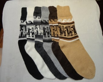 New, Alpaca wool yarn socks, warm and comfortable, 100% Alpaca wool yarn socks, natural colors