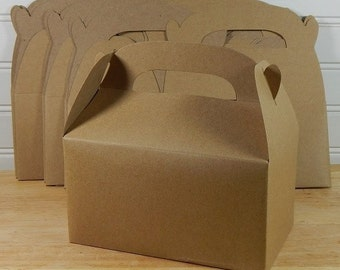 Kraft Gable Boxes 6, Gifts, Party, Paper, Holiday Packaging