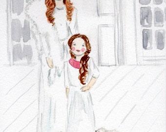 Personalized Child Watercolor illustration