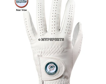Miami Dolphins Golf Glove & Ball Marker