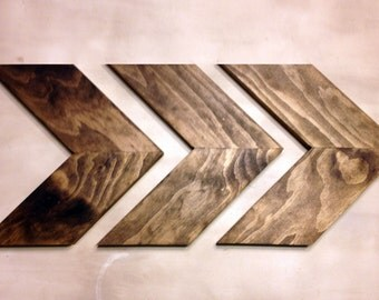 Wood Chevron Arrows. Chevron Arrows. Wood Arrows. Woodland Nursery Arrows. Wood Arrow Wall Art. Chevron Home Decor. Rustic Chevron Arrows.