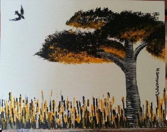 Impetuous Flight an Original Acrylic Painting by Raina Whittekiend (c) 2014