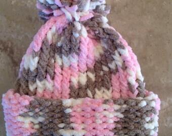 Valentine Hat Valentine's Day Hat Pink Hat Infant Baby Girl Knitted Winter Hat