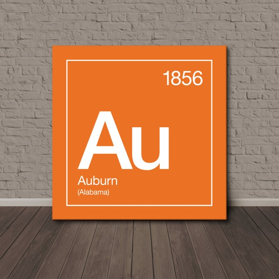 auburn periodic table canvas wall art. Black Bedroom Furniture Sets. Home Design Ideas
