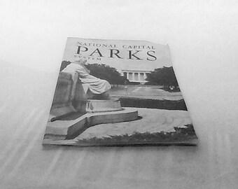 Vintage Pamphlet Or Booklet On National Capital Parks System  1956