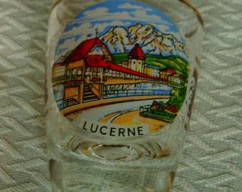 Souvenir of Lucerne, France Shot Glass!!!