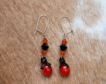 Glass Clementine Earrings
