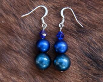 Pearls & Swarovski Crystal Earrings