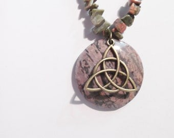 Unakite with celtic knot