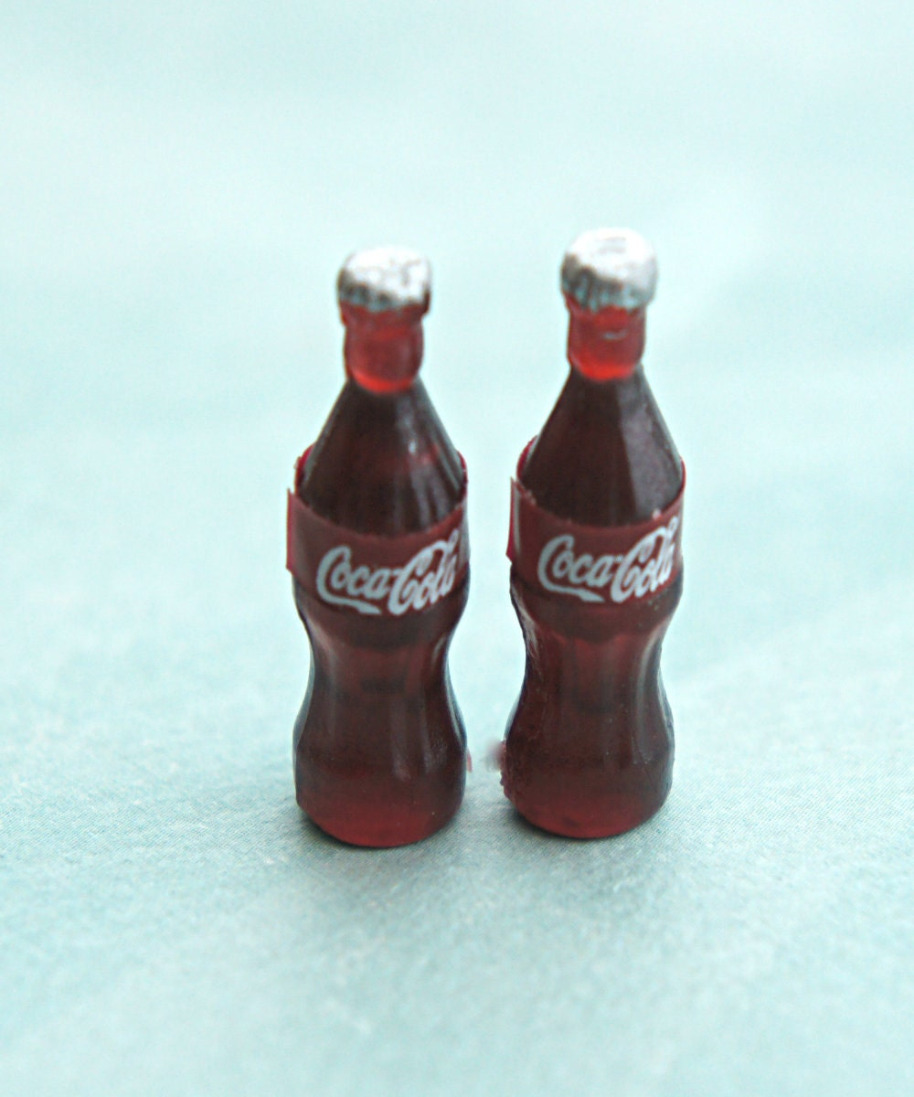 Coke Bottle Earrings Miniature Food Jewelry Food Earrings
