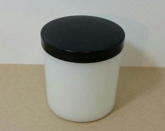Vintage Hazel-Atlas White Milk Glass Jar with lid