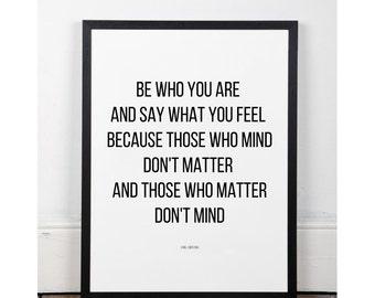 Typographic Art Dr Seuss Wall Art Inspirational Quote Simple Print Typographic Print Wall decor Printable digital art