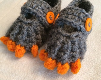 Owl booties with talons