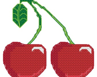Cross stitch pattern cherry