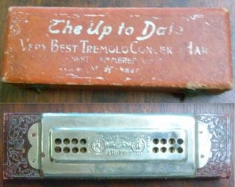 1915 M. Hohner The Up To Date Very Best Tremolo Concert Harmonica No 46 1/2