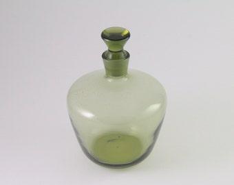 gallerymichel vintage Richard Sussmuth Gray Glass Whisky Decanter