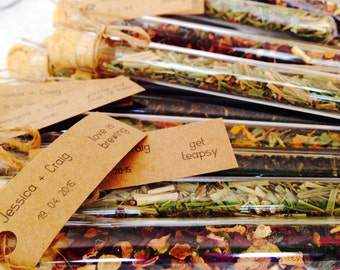 Custom Wedding Favor Bonbonniere - Test Tube with Loose Leaf Tea