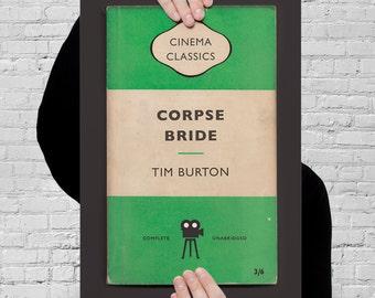 Tim BURTON Movie Poster CORPSE BRIDE Poster Tim Burton Print Corpse Bride Print Tim Burton Orange Penguin Classics Giclee Art Print Ribba