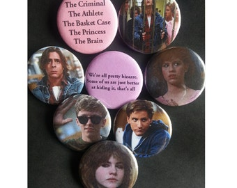 The Breakfast Club Pinback Buttons