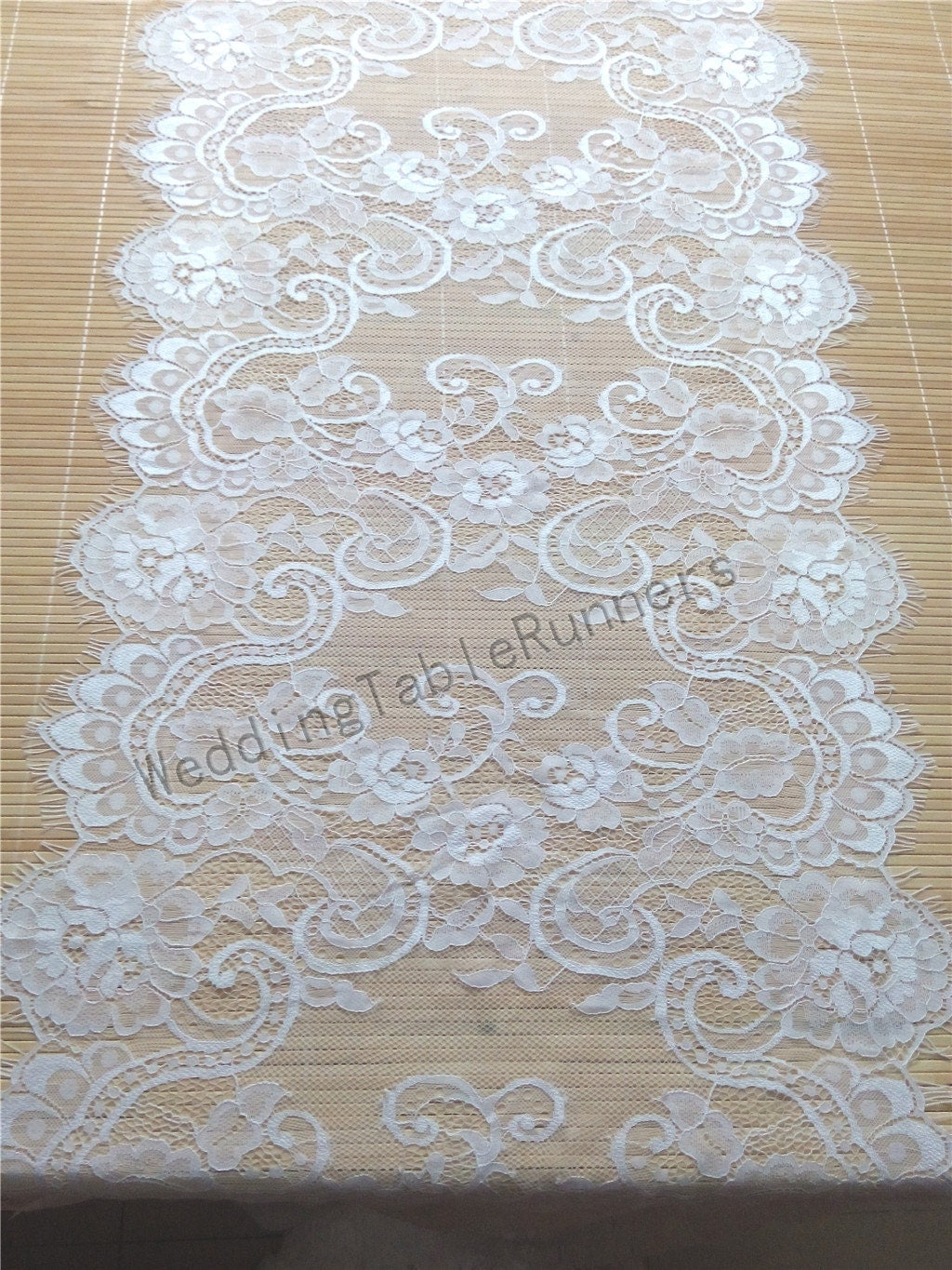 10ft lace table runner 17 wedding table by weddingtablerunners