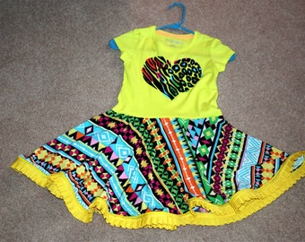 Southwest Pattern Twirl Dress