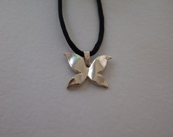 silver butterfly pendant.