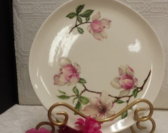 Magnolia Shabby Chic Dinner Plate; Vintage Iva-lure; Crooksville USA; Vintage 1940s