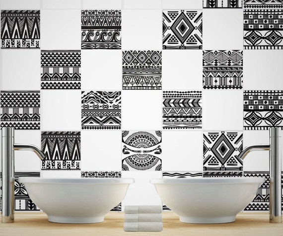 vinyl backsplash aztec tile stickers tile decals tiles for