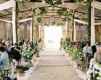 20% Off,Burlap Aisle runner, Sale! Wedding Aisle runner