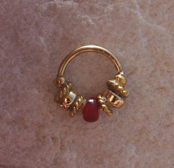 Ruby Diamond Rings Nose Ring 14 K Gold Filled Piercing Ring