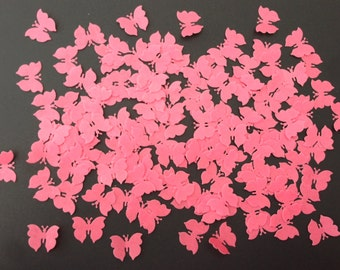 150 Edible Hot Pink Butterfly Wafer Cupcake Toppers Precut
