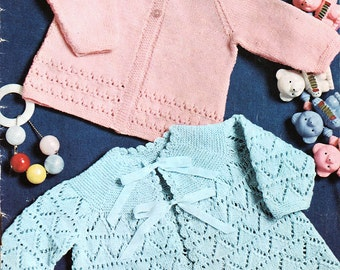 Baby's Top Coats Knitting Pattern - Patons 6031