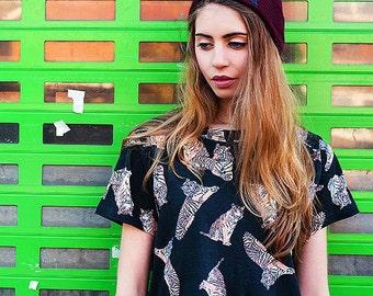ON SALE Tiger T-shirt dress Black