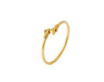 Rams Head Bracelet (small) Gold