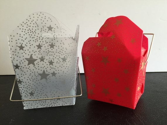 Clear Chinese Take Out Favor Boxes : Decorative take out box plastic gift