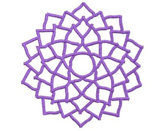 Embroidery Design Pattern File Crown Chakra Symbol, great for Gift Bag, Tote Bag, Pillow