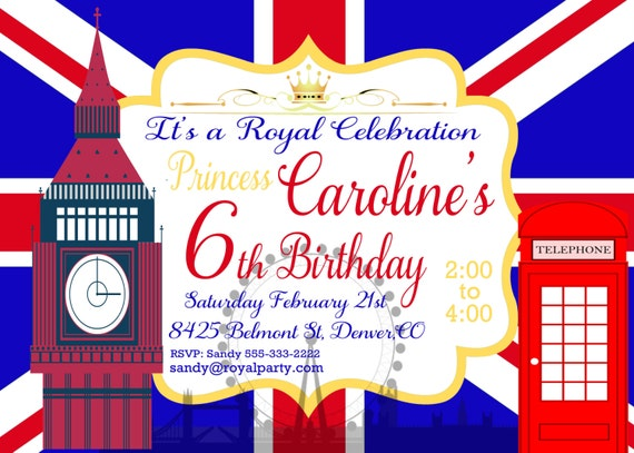 anniversaire invitation imprimable angleterre par tsndigitaldesigns. Black Bedroom Furniture Sets. Home Design Ideas