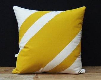 Be Kind Cushion - Stripe Me Yellow