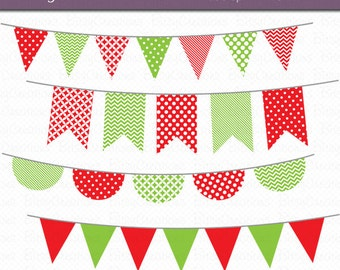 Christmas bunting clipart – Etsy