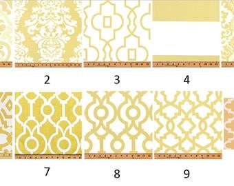 Saffron Yellow Print Window Valance-Window Treatments-You Choose Your Size and Pattern