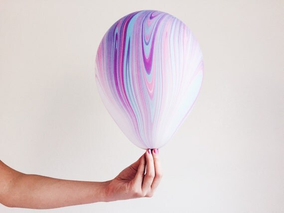 Light Purple Marble : Marble balloon agate balloons light blue pink purple