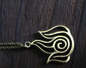 Avatar Fire Bender Necklace the Last Airbender inspired Fire Nation jewelry halloween gift C157N-b
