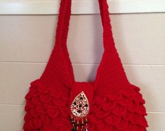 Handbag In Cherry Red