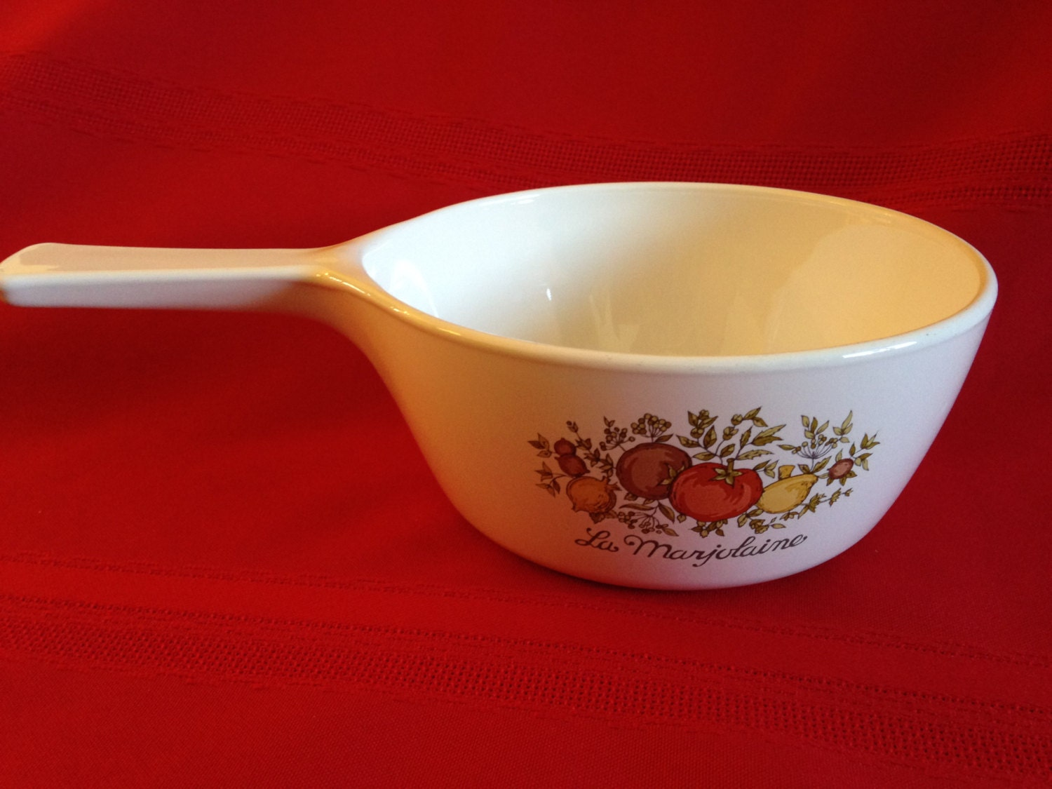 Vintage Corning Ware Baking Dish With Handle La Marjolaine